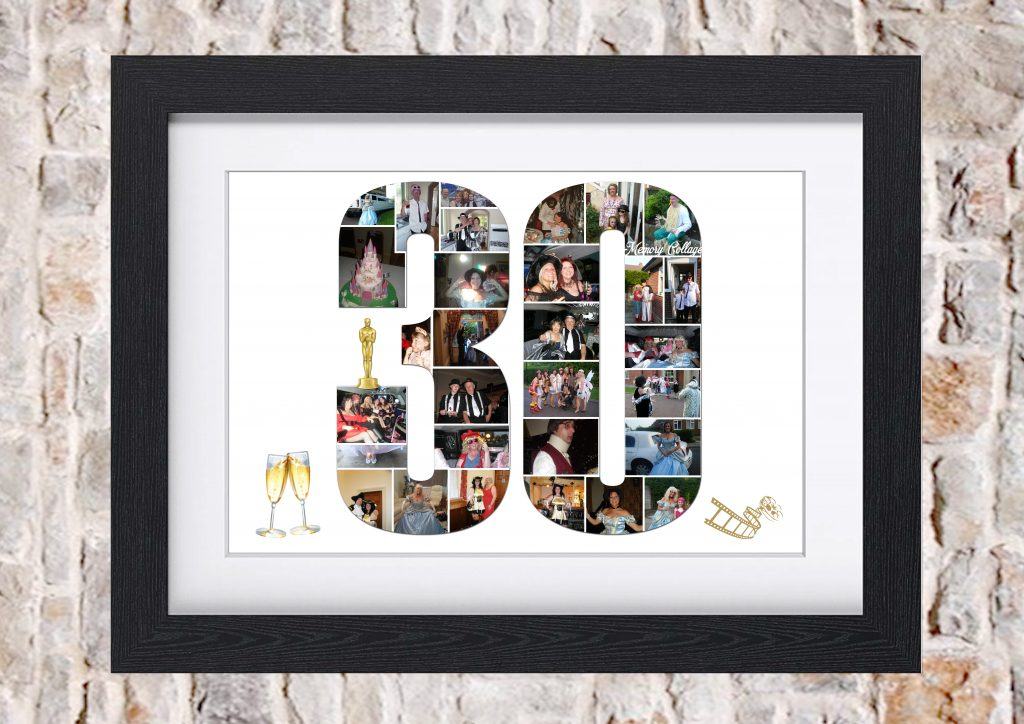 30th Birthday Photo Collage Memory Collage