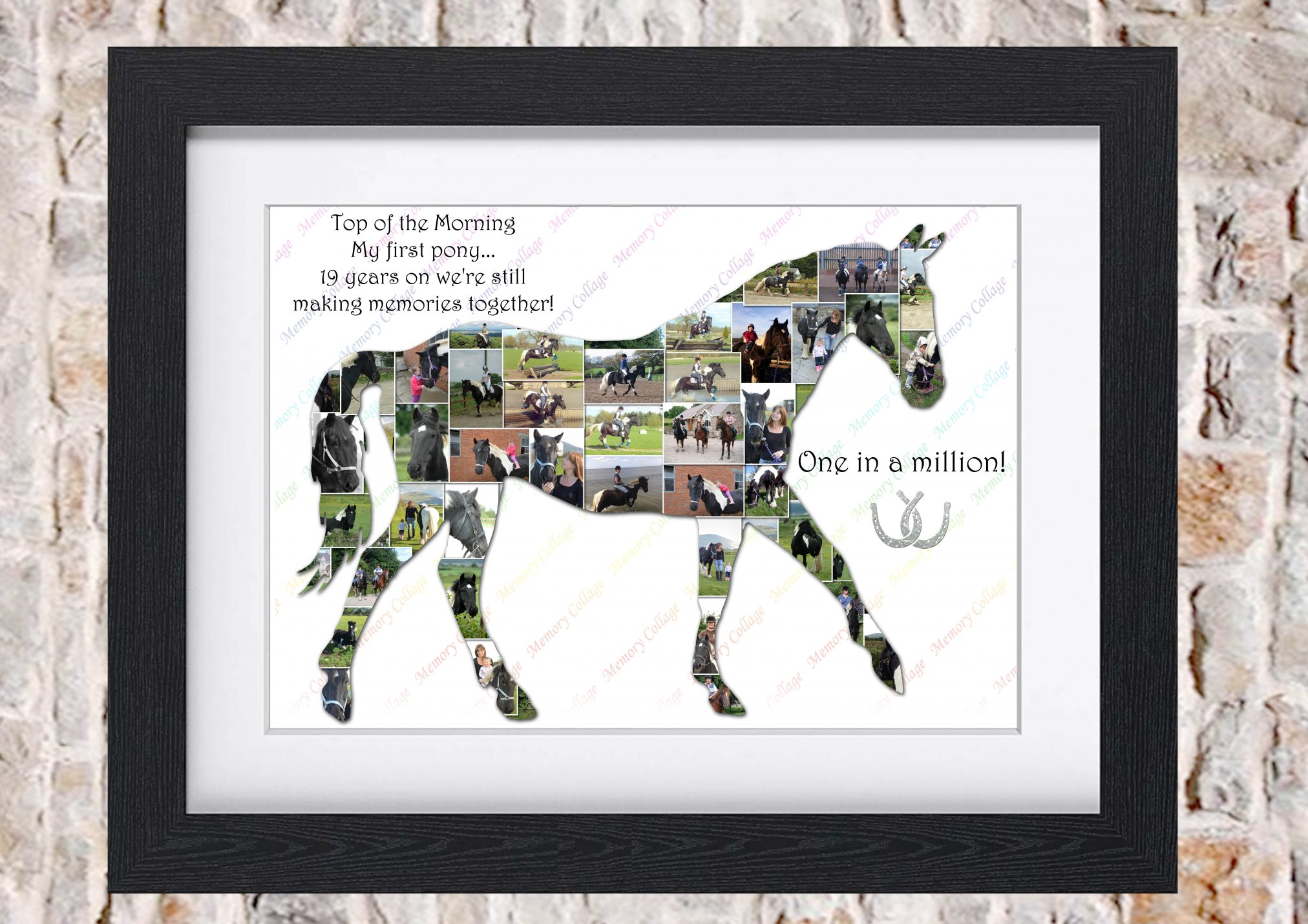 Horse Equestrian Photo Collage Memory Collage