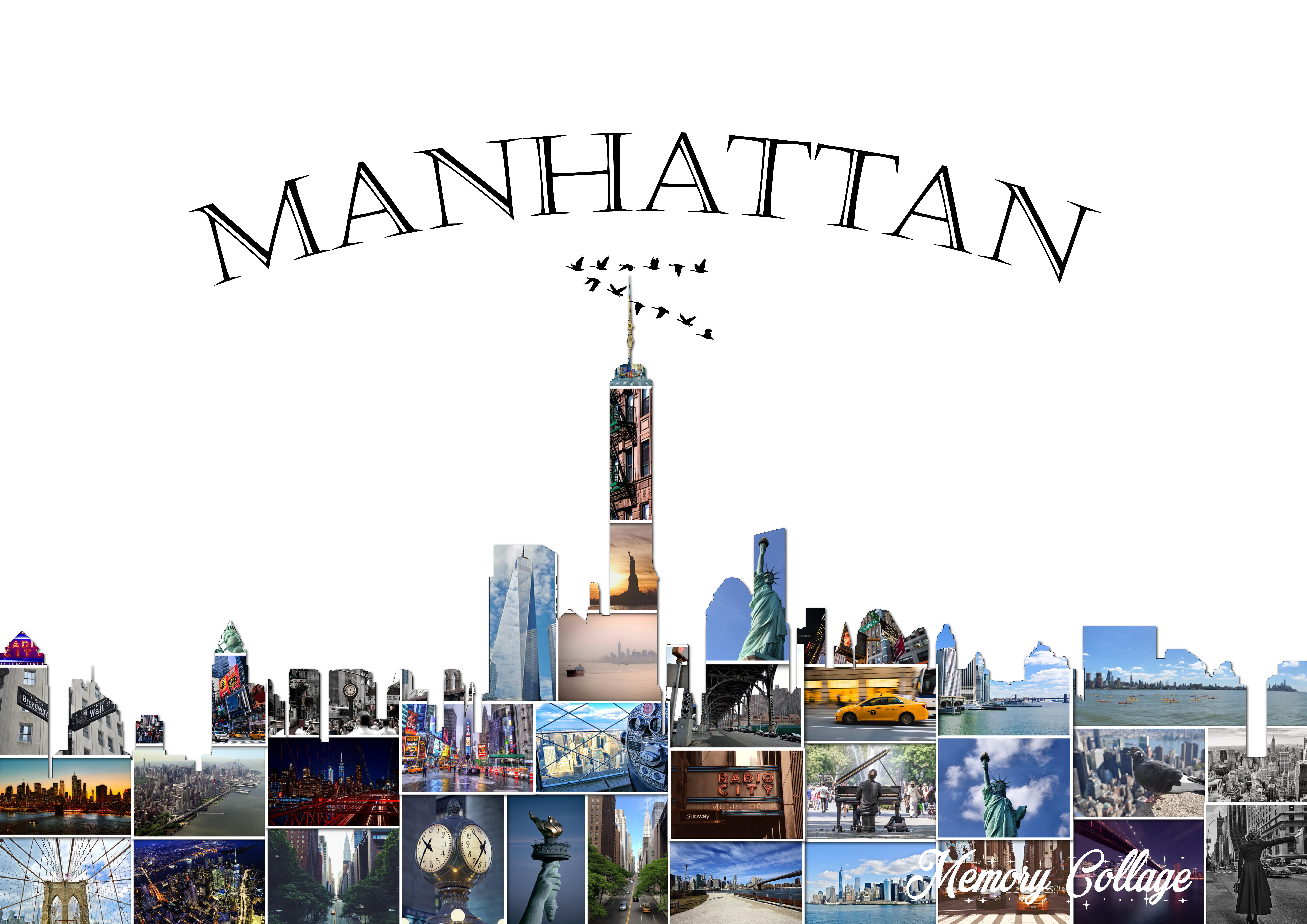 Manhattan Skyline Photo Collage Memory Collage