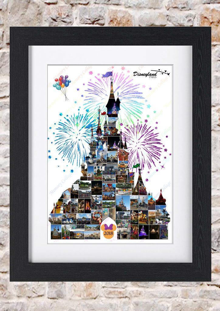 Sleeping Beauty Castle Paris Photo Collage Memory