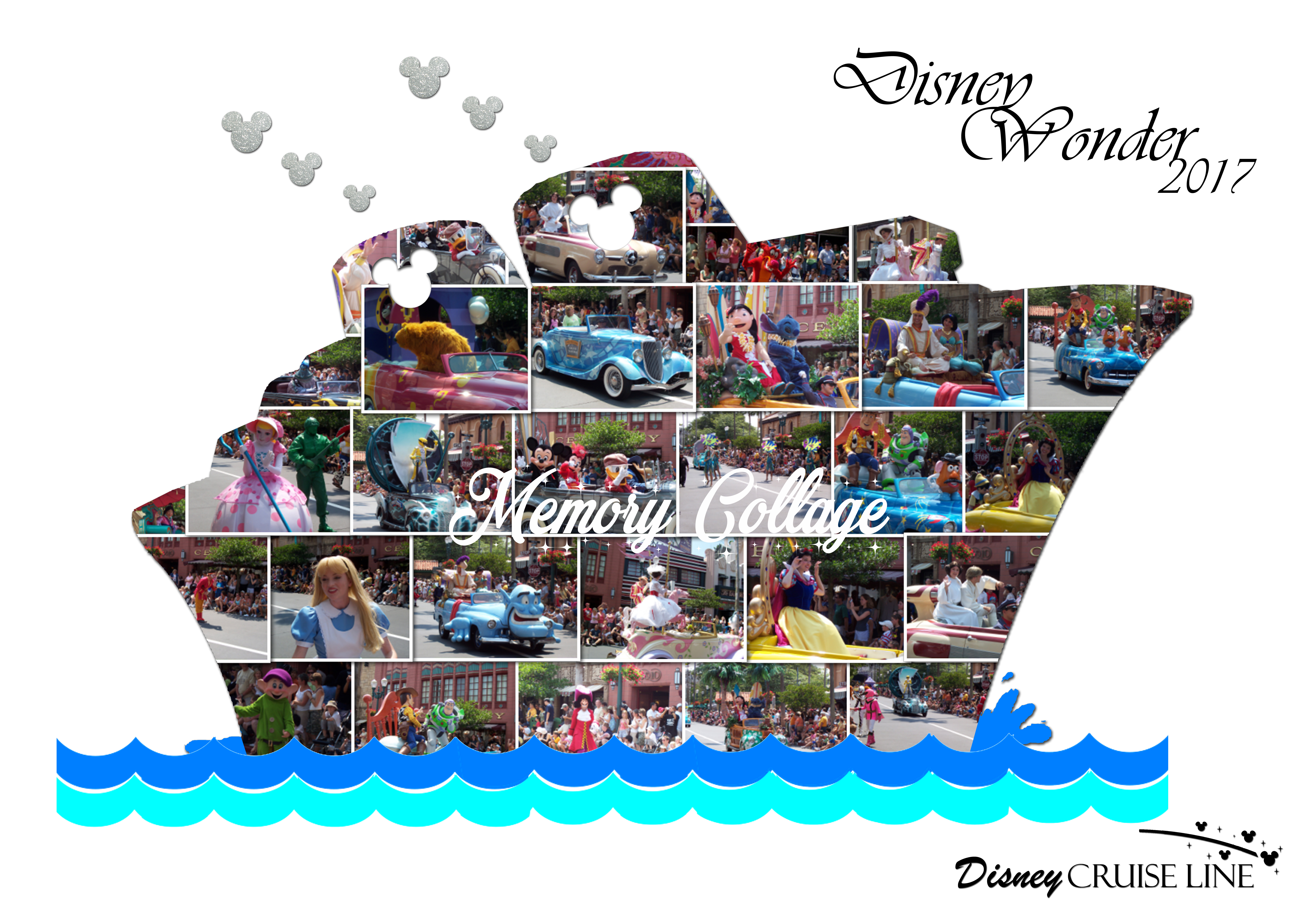 Cruise Ship Photo Collage Memory Collage