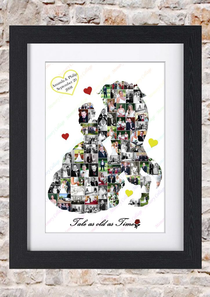 Beauty & the Beast Inspired Couple Waltz Photo Collage