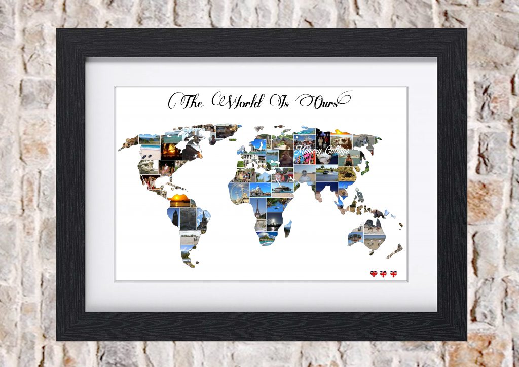 World map photo collage memory collage world map photo collage gumiabroncs Image collections