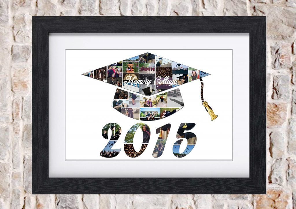 Graduation Cap Photo Collage Memory Collage