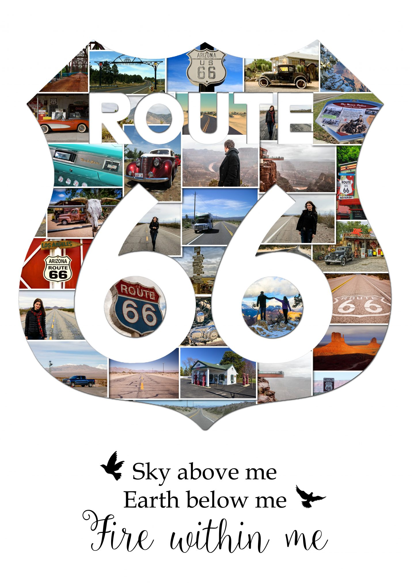 Route 66 Usa Road Trip Photo Collage Memory Collage