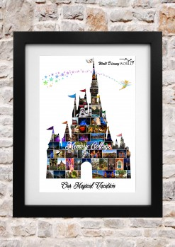 Cinderellas Castle Tink Framed